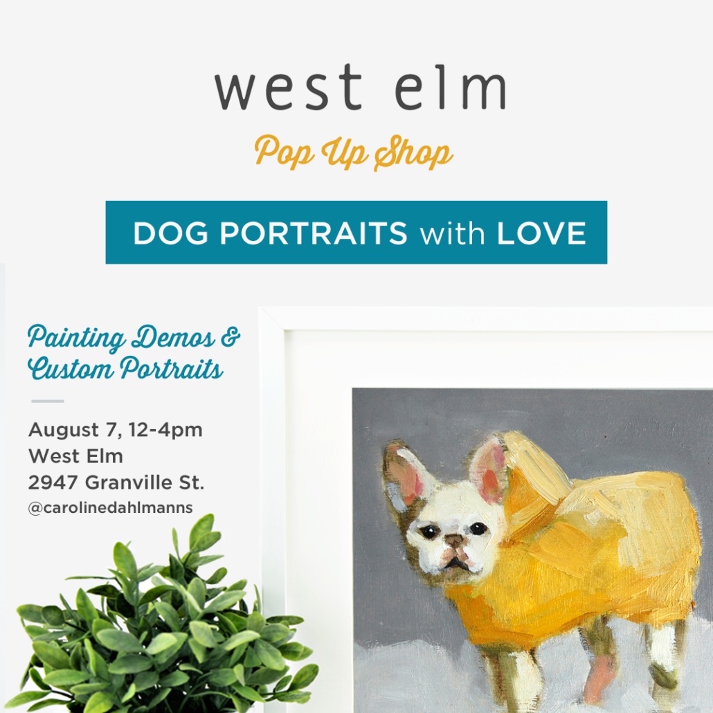 Dog Portraits with Love: West Elm Pop Up Shop