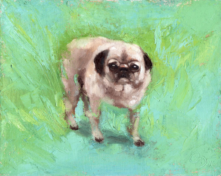 Dog Portraits with Love: Dog Portrait in Oil by Caroline Dahlmanns